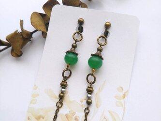 緑のトカゲのしっぽイヤリング/ピアス mindyの画像