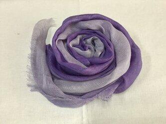 草木染め シルクストール 紫根の画像
