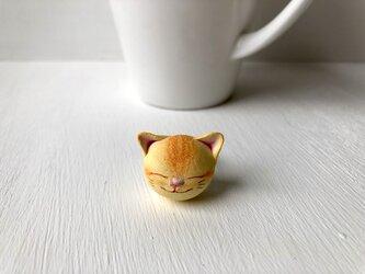猫さん指輪(黄トラ)の画像