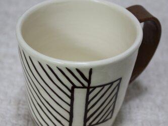 斜線模様のツートーンカップ#1の画像