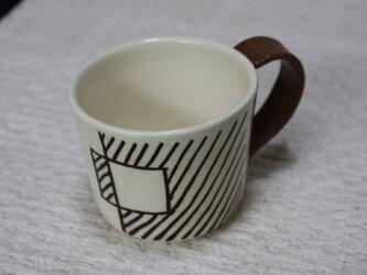 斜線模様のツートーンカップ#2の画像