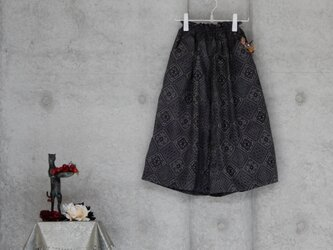 着物リメイク ワイドパンツ/大島紬/フリーサイズの画像