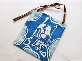 丑うしショルダーバッグ(淡藍)の画像