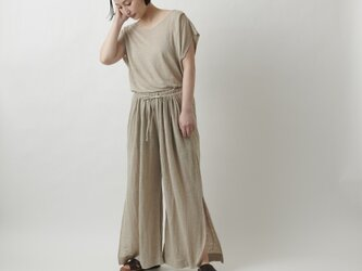 【new】enrica linenknit pants/ naturalの画像
