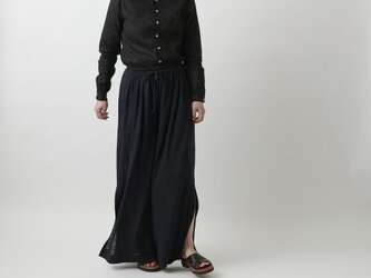 【new】enrica linenknit pants/ blackの画像