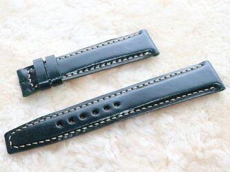 腕時計ベルト 18-16mm ダークグリーン #83の画像
