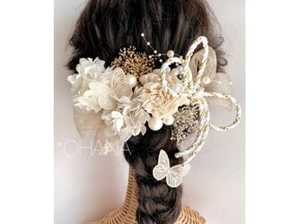❤︎デラックス❤︎ゴールドxプラチナ*ゴージャスなヘッドドレス*卒業式、成人式、髪飾り、前撮り、色直し、和装、袴、振袖の画像