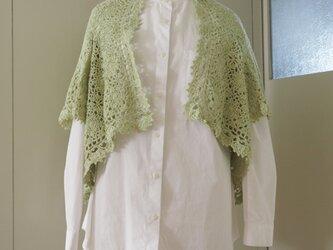 モチーフ編みのボレロの画像