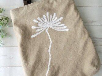 国産帆布のウッドハンドルトートバッグ *ダリア*ベージュ* 受注製作の画像