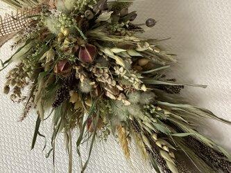 atelierBLUGRA八ヶ岳〜雑穀とグラス類のスワッグの画像