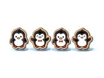 『田田製作所』手作り レディースピアス ペンギンの画像