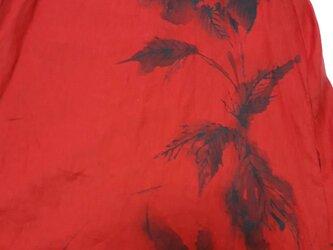 真っ赤な情熱牡丹ワンピ 特注 手描き 持ち込みの画像