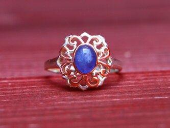 アンティークスタイル*天然タンザナイト 指輪*13.5号 SVの画像
