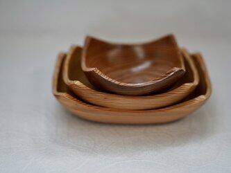吉野杉のとり鉢、盛鉢3点セットの画像