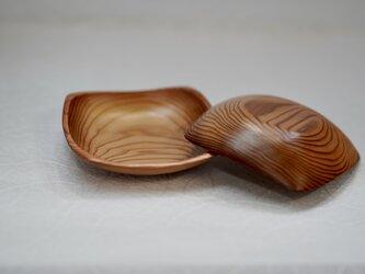 吉野杉のミニとり皿2点セットの画像