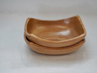 吉野杉の中とり鉢、盛鉢2点セットの画像