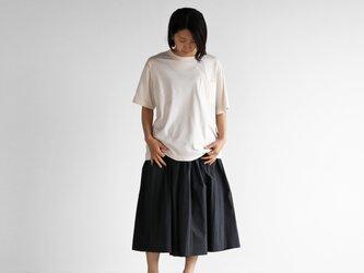 [HUIS in house]SUVIN COTTONゆるTシャツ(ivory)【ユニセックス】CS102の画像