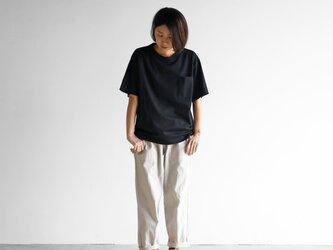 [HUIS in house]SUVIN COTTONゆるTシャツ(kuro)【ユニセックス】CS102の画像