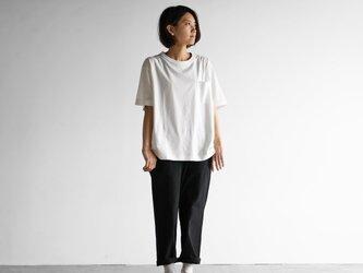 [HUIS in house]SUVIN COTTONゆるTシャツ(siro)【ユニセックス】CS102の画像
