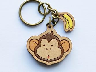 『田田製作所』手作り キーホルダー 猿の画像