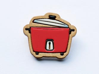 『田田製作所』手作り プローチ  炊飯器(赤)の画像