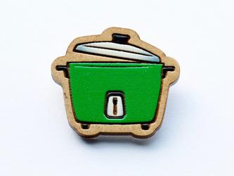 『田田製作所』手作り プローチ  炊飯器(緑)の画像