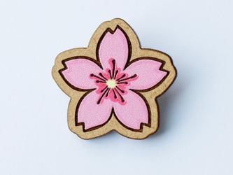 『田田製作所』手作り プローチ  桜の画像