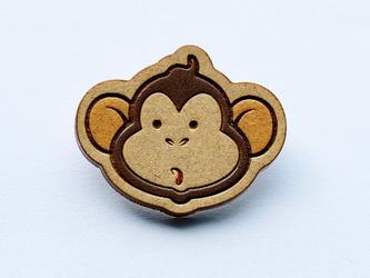 『田田製作所』手作り プローチ  猿の画像