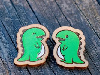 『田田製作所』手作り プローチ  恐竜の画像