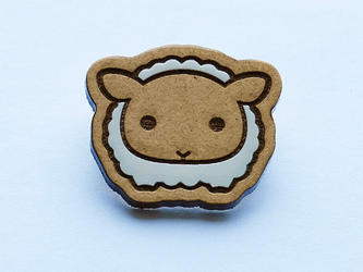 『田田製作所』手作り プローチ 羊の画像