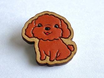 『田田製作所』手作り プローチ プードル犬の画像