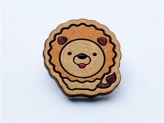 『田田製作所』手作り プローチ ライオンの画像