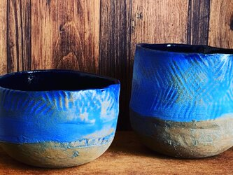 縄文象嵌 向付 小鉢 抹茶茶碗の画像