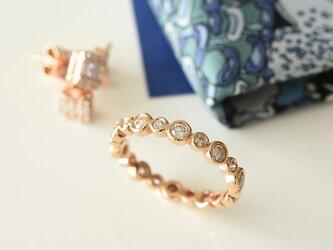 18K エタニティーダイヤモンドリングの画像