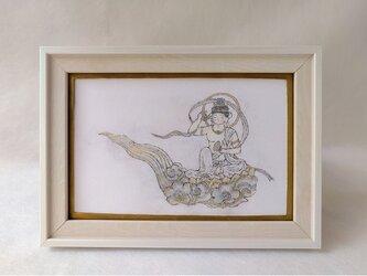 銅版画 雲中供養菩薩 wh01の画像