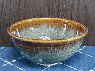陶器 ご飯茶碗(中)こげ茶まだら・浅型【210509】の画像