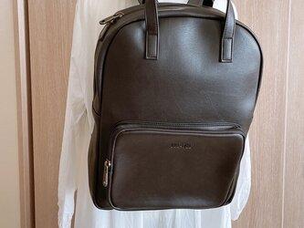 リュック メンズ レザー 大容量 バッグ 鞄 レディース パソコン収納15インチ 防水 プレゼントの画像