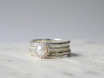 3set simple ring(sv*アコヤ)の画像