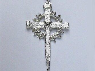 イエス・聖母マリア・教義・聖霊・使徒などを表した作品 3本の釘といばらの冠のクロス ac29 新作ですの画像
