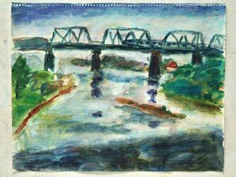 多摩川の鉄橋(額無し)の画像
