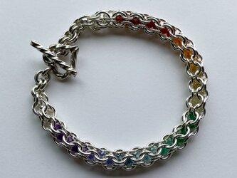 『 Intention ( rainbow line ) 』Bracelet by SV925の画像