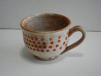 百色(ももいろ)象嵌 マグカップ(丸)赤玉の画像