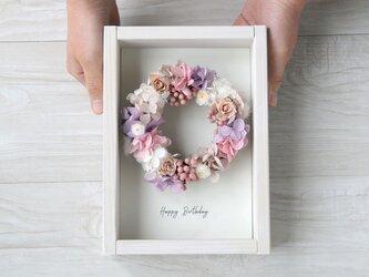 壁掛けフレーム wreath -antique pink-の画像