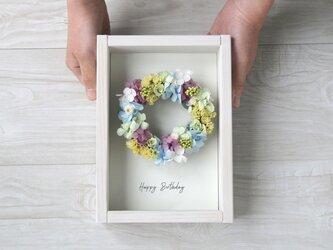 [誕生日プレゼント・結婚祝い・開店祝い]  壁掛けフレーム wreath -pastel-の画像
