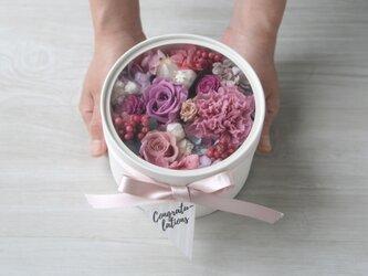 [誕生日プレゼント・結婚祝い・両親贈呈品]  Flowerbox Purple roseの画像