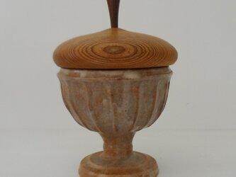 銀彩 シノギ 馬上杯・蓋物の画像