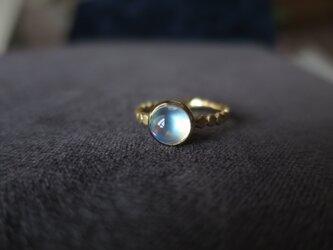 K18 Moon stone ○○○ Ringの画像