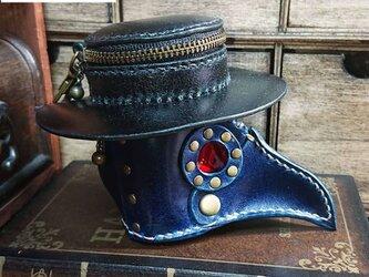ペストマスク型ポーチ*ブルー*【送料無料】の画像