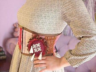 さをり織 ベリーショートコルセット ロゼット付の画像
