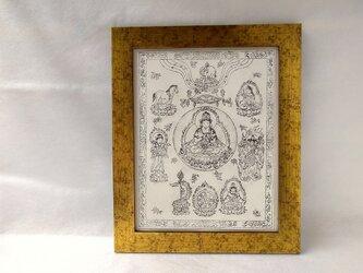 銅版画 一字金輪曼荼羅 go01の画像